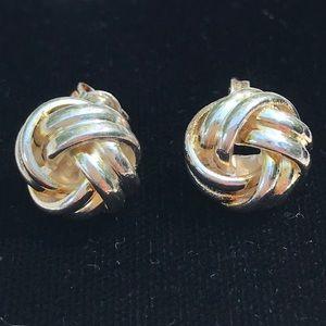 Jewelry - Sterling silver knot earrings